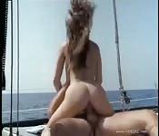Rozkoszny seks na morzu
