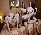 Orgie avec trois filles européennes