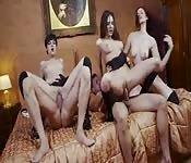Orgia con tre figone europee