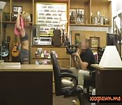 Blonde beauty railed by pervert pawn guy