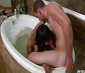 Dentro alla vasca da bagno