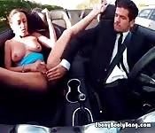 Ebony Hottie Blows Hung Rich Stud