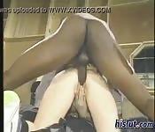 Die erste Porno mit einem Schwarzen und einer Blondine