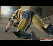 Wolverine 3D animation fucked from behind