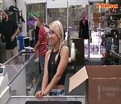 Blonde sweetie screwed by pawn keeper