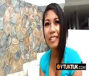 BACKPACKER smashing BUSTY BIG-NIPPLED Asian girl