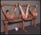 Young schoolgirls tied and spanked hard