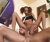 Ebony gouden douche Porn