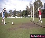 Amateur lesbians on pitch