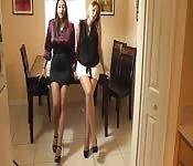 Meine Sekretärinnen können gut mit ihren Füßen umgehen