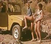 Vintage Duitse porno buiten