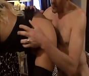 Sex mit einer blonden Hure