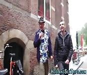 Dutch hooker gets cummed
