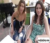Sexy brunette babe gets rammed for money