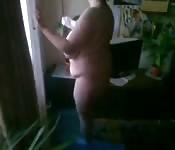 Gorda blanca embarazada