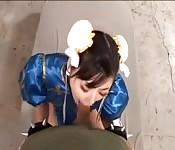 Chun Li wird von Guile gefickt