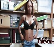Black girl with big tits banged roughly