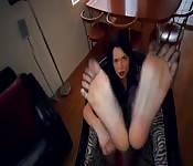 Eine Fuß-Fetisch Spielerei