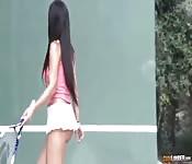 Paternaire de baise au tennis