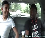 Gay black hunk fucks ass