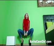 Arabisches Babe vor der Webcam