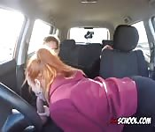 Redhead Blows Hung Driving Instructor