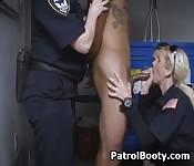 Three Female Cops Suck Black Dick
