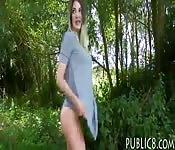 Czech slut shows off her ass and screwed