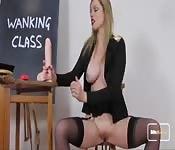 Sexy teacher puts on class