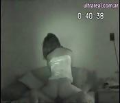 Chica caliente pillada en cámara