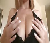 big tits babe in boobtease