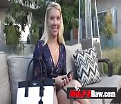 Blonde milf pornstar Laura Bentley BJ