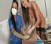 Gloved Hospital Handjob