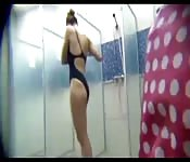Some sexy hairy milfs in shower room