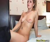 Smoking Hot Blonde Babe Sucks And Fucks A Cock