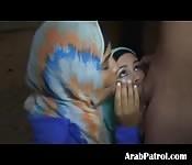 Arab Hooker Team Sucking Dick POV