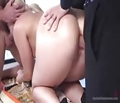 Hardcore gangbang with perfect body blonde