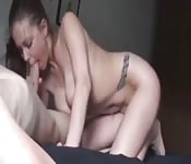 Hot bitch can suck dick so well.