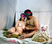 Blindfolded couple