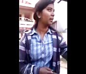 Helpful Indian woman gives directions