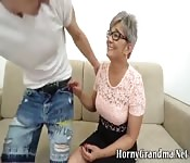 Granny blonde having a anal sex