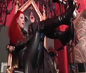 Fierce redheaded Domme delights in domineering tactics