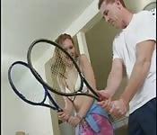 Lezione di tennis e sesso anale