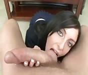 Studentessa brunetta figa
