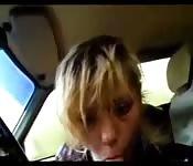 Amadora chupando no carro