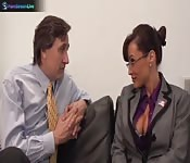Huge titted Lisa Ann hardcore fuck with her boss