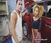 Ebony gf cheats with mechanic
