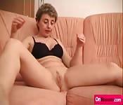 Horny amateur lady masturbates on cam