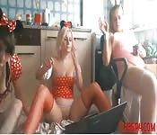 Trois coquines en Webcam