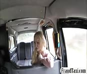 Busty passenger gets screwed in the taxi